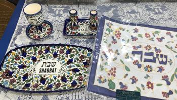 Jerusalem Pottery Shabbat Set