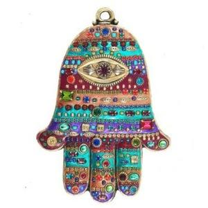Beaded Multicolor Hamsa