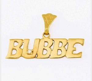 Bubbe Pendant with Diamond - Gold