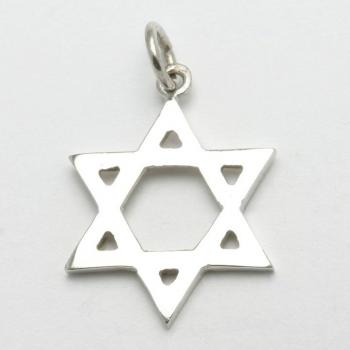 Star of David Pendant - 14kt white gold