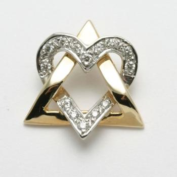 Diamond Star of David - 14kt Yellow Gold