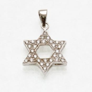 Diamond Star of David - 14kt White Gold