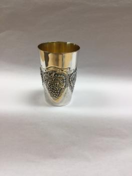 Grape Kiddush Cup - Sterling Silver