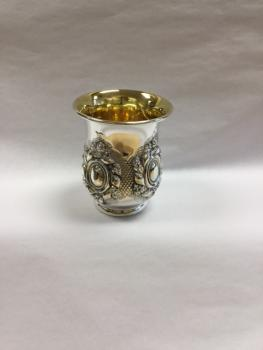 Small Embellished Kiddush Cup - Sterling Silver