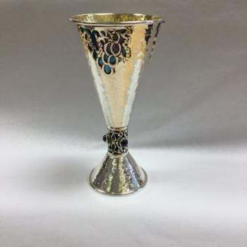 Modern Kiddush Cup - Sterling Silver