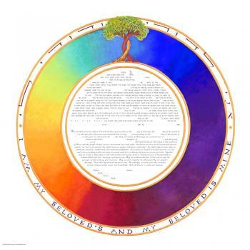 Rainbow Circle Ketubah