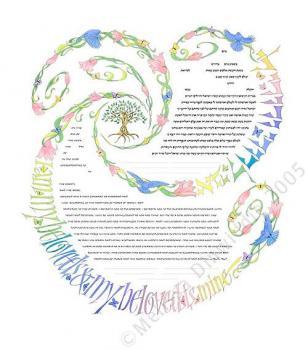 Spiral of Life Pastels Ketubah