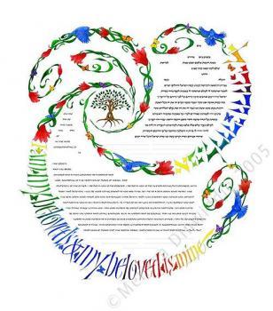 Spiral of Life Spectrum Ketubah