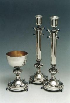 Kiddush Cup Candlesticks Sterling Silver 023-006L