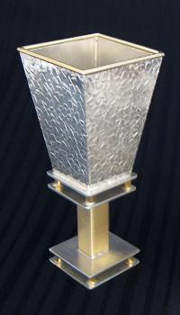 Square Kiddush Cup - Stone Texture