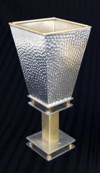 Square Kiddush Cup - Pebble Texture