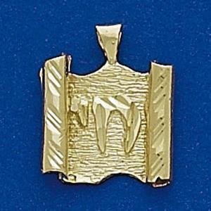 Chai Torah Pendant K-21 - Gold