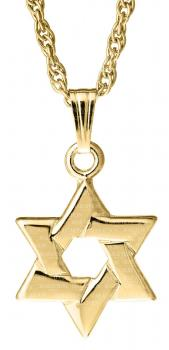 14KT Gold Star of David KP46