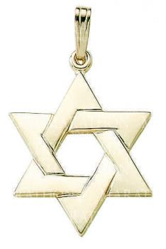 14KT Gold Star of David KP928