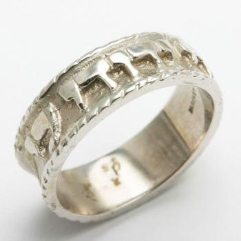 Gold Wedding Ring - 14kt White Gold