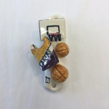 Lakers Mezuzah - Painted Porcelain