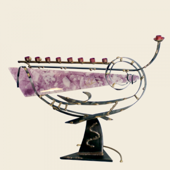 Large Gary's Glass Menorah