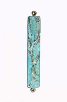 Mezuzah Tree of Life Patina Tall