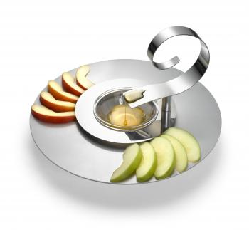 Spiral Spoon Apple and Honey Plate - Steel