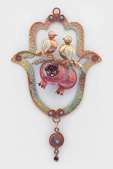 Love Birds and Pomegranates Hamsa