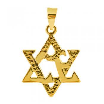 Love Star Pendant in 14kt Gold