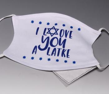 I Love You A Latke Face Mask