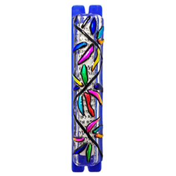 Multicolored Abstract Mezuzah