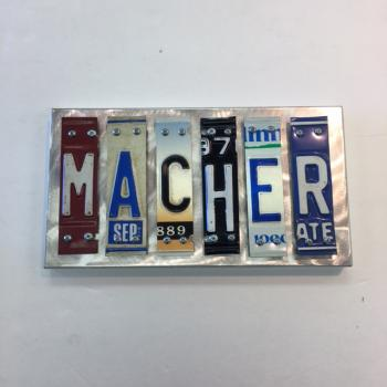 Macher Letter Art - Metal