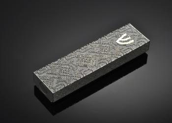 Magen David M Mezuzah - Metal