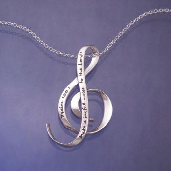 Make a Joyful Noise Necklace - Sterling Silver