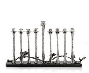Black Orchid Menorah - Nickelplate