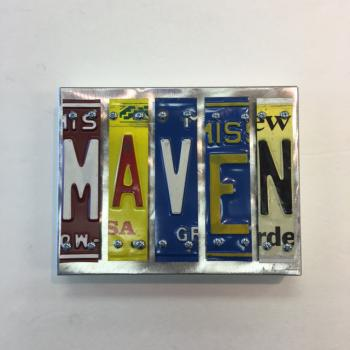 Maven Letter Art - Metal