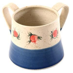 Pomegranate Color Bottom Handwashing Cup - Ceramic