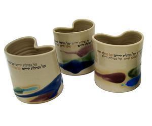 Heart Multicolored Handwashing Cup - Ceramic