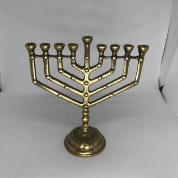 Brass Hanukkah Menorah 4362