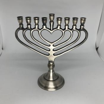 Pewter Hanukkah Menorah