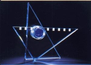 Star of David Menorah - Glass