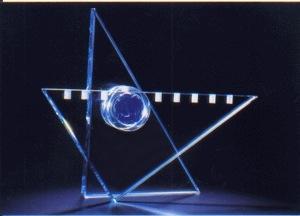 Star of David Menorah - Glass