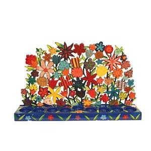 Multi Flowers Menorah