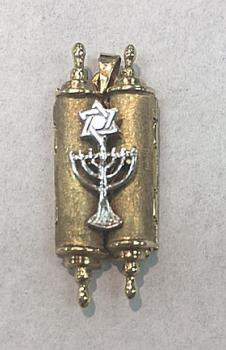 Menorah Mezuzah Necklace - 14kt Gold