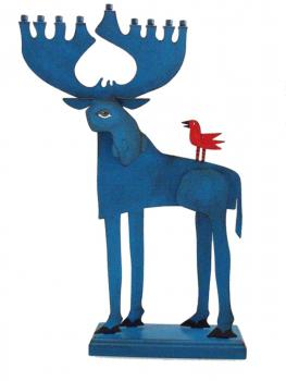 Moose Hanukkah Menorah