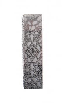 Diamond Pattern Stainless Steel Mezuzah by Metalace Art