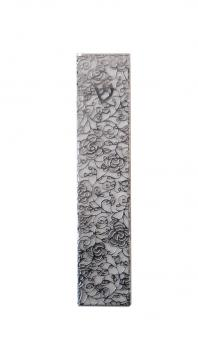 Rose Stainless Steel Mezuzah by Metalace Art
