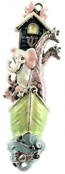 Mezuzah Small Noah's Arc Green & Pink - 66A by Quest Gifts