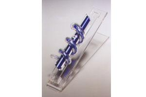Entwined Rings Mezuzah - Glass