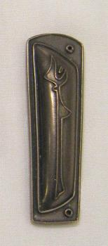 Upstanding Woman Mezuzah - Bronze Finish
