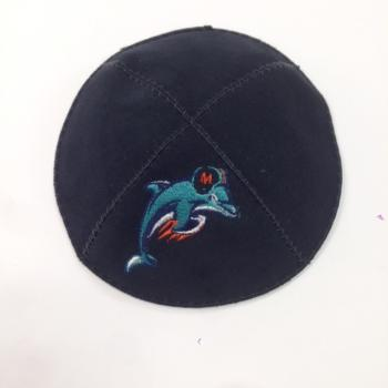 Miami Dolphins Kippah - Suede