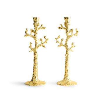 Tree of Life Candleholders Gold
