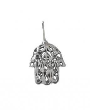 Silver Hamsa Pendant - Sterling Silver