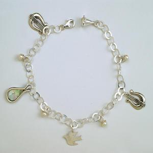City of David Charm Bracelet - Sterling Silver